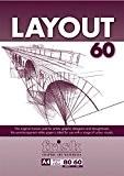 Frisk Layout Maroon Bloc de 80 feuilles de papier blanc semi-transparent 60 g/m² Format A4