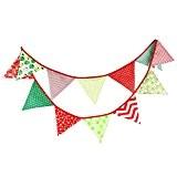 G2PLUS Bannière avec fanions en tissu Multicolore 3m