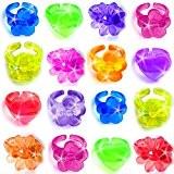 German Trendseller® - 12 x Jelly bagues?mélange de couleurs pour enfants?bijoux?l'arc en ciel?l'anniversaire d'enfant?petit cadeau