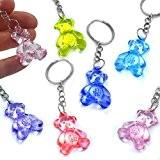 German Trendseller® 12 x porte-clés nounours?pendentif ourson?mélange de couleurs?en optique cristal ?petit cadeau ?l'anniversaire d'enfant