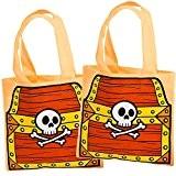 German Trendseller® - 4 x sachets pour petits pirats?16 x 24 cm ?trésor avec crâne ?l'anniversaire d'enfant ?pour petits cadeaux ...