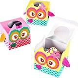 German-Trendseller ® - 6 x boîtes á cadeaux hibou?pour friandises, muffin?pour remplir?give away pour petits invitées? l'anniversaire d'enfant