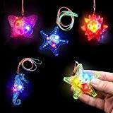 German Trendseller® - 6 x LED colliers?clignotante? flashlight?mélange de couleurs et forms? idée cadeau? l'anniversaire d'enfants? pochette cadeau