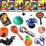 German Trendseller® - 6 x sachets pour la fête de halloween? inclusif 12 petits cadeaux ?jouets pour les enfants? 18 ...