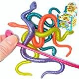 German Trendseller® - 6 x serpents élastiques?stretchy jouets ?assortis?mélange de couleurs?l'anniversaire d'enfant?petit cadeau