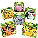 German Trendseller® - 8 x boîtes en carton avec des animaux safari? Party Box ?avec poignée ?pour remplir? des animaux ...
