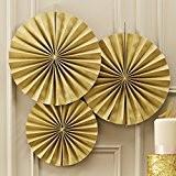 Ginger Ray Gold Cercle mousseux ventilateur accrocher des décorations de fête ou d'un mariage - Pastel Perfection