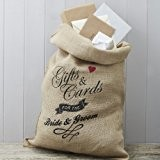 Ginger Ray Hesse jute Mr & Mrs carte de mariage Postbox Sack - Affaire Vintage