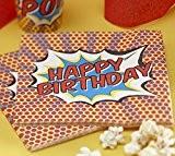 Ginger Ray - Serviette Papier Happy Birthday - Fête Thématique Superhéro Pop Art
