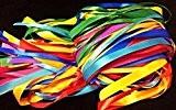 Glitterati Lot Lot de 40m Ruban en satin avec couleurs assorties en satin, 2,5m x 2Largeur x 8couleurs assorties