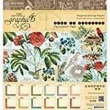 "graphic45""Temps de Flourish Calendrier Pad"