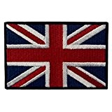 Great British Union Jack Drapeau Brodé Uk Angleterre Pavillon De Fer Sur Recousu Patch
