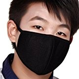 Greenery 3×Masques Extérieur Anti-poussière et Anti-haze PM2.5 Mince Respirant Anti-Bactérienne Masque Soins de Santé Earloop Bouche Visage