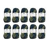 Grundl - 10 pelotes de laine à tricoter Grundl LISA Print - 68 - 100% acrylique - 755-68