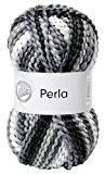 Grundl 3354-22 Perla Pelote de fil à tricoter Mélange noir et gris 100g