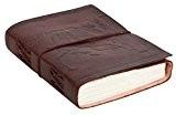"""Gusti Cuir nature """"Cindy"""" livre avec couverture en cuir bloc note journal intime journal en cuir fait main bloc à ..."""