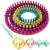 H & S® Lot de 4à tricoter papier froissé tisser Ensemble Craft Kit Chaussette Écharpe Chapeau Maker-Rond