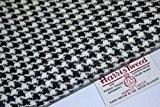 Harris Tweed tissu 100% pure laine vierge Motif pied-de-poule Noir & Blanc M/100/75cm également vendu comme moitié M & Craft ...