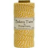 Hemptique coton Bakers Twine bobine 2 plis 410 pieds/Pkg-jaune/blanc
