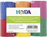 Heyda 203376099 Lot de 6 rouleaux de papier crépon 32 g/m² 5 cm x 10 m (Plusieurs coloris) (Import Allemagne)