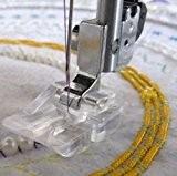 honeysew domestique Machine à coudre pied perles et paillettes perle ronde, pied pour Singer/Brother/Babylock/modèles Viking/?: Euro-Pro/Janome/Kenmore/Blanc/JUKI/simplicité et etc.