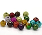 HOUSWEETY 500 Mixte Perles Magique Rond Acrylique 6mm