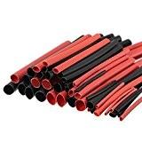 Hrph 42pcs 6 Tailles 2:1 Gaines Tubes Type H Polyoléfine Thermorétractables Isolées Câblage Enveloppe Assortiment Kit Outil Rouge et Noir