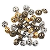 ILOVEDIY 100PCS Breloque Perles Tibetaines Bronze Argent Perles mêlé Pour Bracelet Fabrication Bijoux 6mm