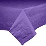 Imperméable doublé en plastique hautement absorbant Nappe Papier en plastique 137 x 274 cm-Violet
