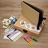 Innocheer Scrapbook avec boîte de rangement Photo Album, 80 Pages métier papier BRICOLAGE anniversaire, mariage, Album Photo, avec Kit accessoires ...