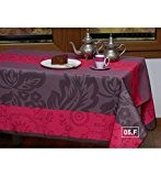 JEFF - Nappe anti-taches - Rose fuchsia, Ovale 148x240cm