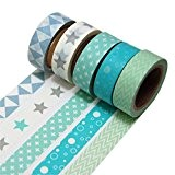 K-LIMIT 5 Set Washi Tape rouleaux de ruban adhésif décoratif masking tape scrapbooking, DIY 9811