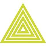Kaisercraft Die décoratif «?Triangle?», en métal, gris