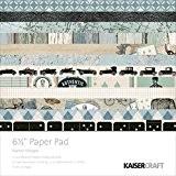 "Kaisercraft Paper Pad 6.5""X6.5"" 40/Pkg-Barber Shoppe"