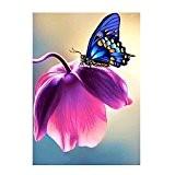 Kangrunmy 5D Peinture en Diamant DIY Point de Croix en Résine Décoration de Maison Salon Chambre - floral aux Papillons ...