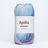 Katia bombay 2022 océan pelote de laine gris 100 g