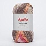 Katia Bombay-Couleur?: Coral/Naranja/Marrón (2029)-Laine/env. 230M 100g