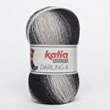 Katia Darling 4chaussettes Socks FB. 60grises, coton avec dégradé, non seulement pour tricoter