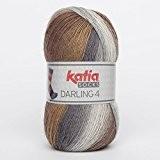 Katia Darling 4Socks FB. 61MARRONES/grises, Chaussettes Coton avec dégradé, non seulement à tricoter Chaussettes