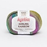 Katia Darling Rainbow-Couleur?: Azul/Cap-Vert/Naranja (307)-50g/env. 190m coton