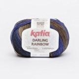 Katia Darling Rainbow-Couleur?: Azul/grises/beiges (301)-50g/env. 190m coton