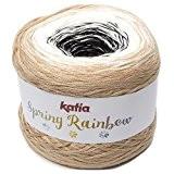 Katia Spring Rainbow-Couleur?: Beige/blanco/Negro (52)-150g/env. 600m coton