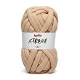 Katia X-Treme Couleur Beige 052Mega de laine XXL 200g 24MTS 30% coton 70% polyamide à l'aide d'aiguilles de 20à 25mm
