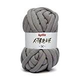 Katia X-Treme Couleur Gris clair 054Mega de laine XXL 200g 24MTS 30% coton 70% polyamide à l'aide d'aiguilles de 20à ...