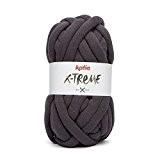 Katia X-Treme Couleur Gris foncé 055Mega de laine XXL 200g 24MTS 30% coton 70% polyamide à l'aide d'aiguilles de 20à ...