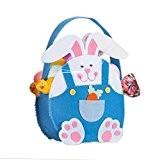 KEERADS Jour de Pâques Lapin mignon bonbons cadeau enfants Sac Creative Present Goods main Accueil Accessoire (Bleu)
