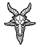 Kill Star Badges okkult-Killin 'It Patch Baphomet thermocollant