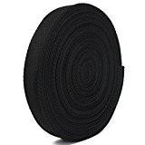 KING DO WAY 20 Mètres 25mm Rouleau De Sangle Ruban Bande En Nylon Accessoire Couture Artisanat DIY Nylon Webbing Tape-Noir