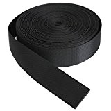 KING DO WAY 9 Mètres 25mm Rouleau De Sangle Ruban Bande En Nylon Accessoire Couture Artisanat DIY Nylon Webbing Tape-Noir
