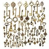 KING DO WAY Kit De 70 Pcs Pendentif Breloque Clé Clef Bronze Antique Rétro Vintage DIY Bricolage Collier Bijoux Accessories ...